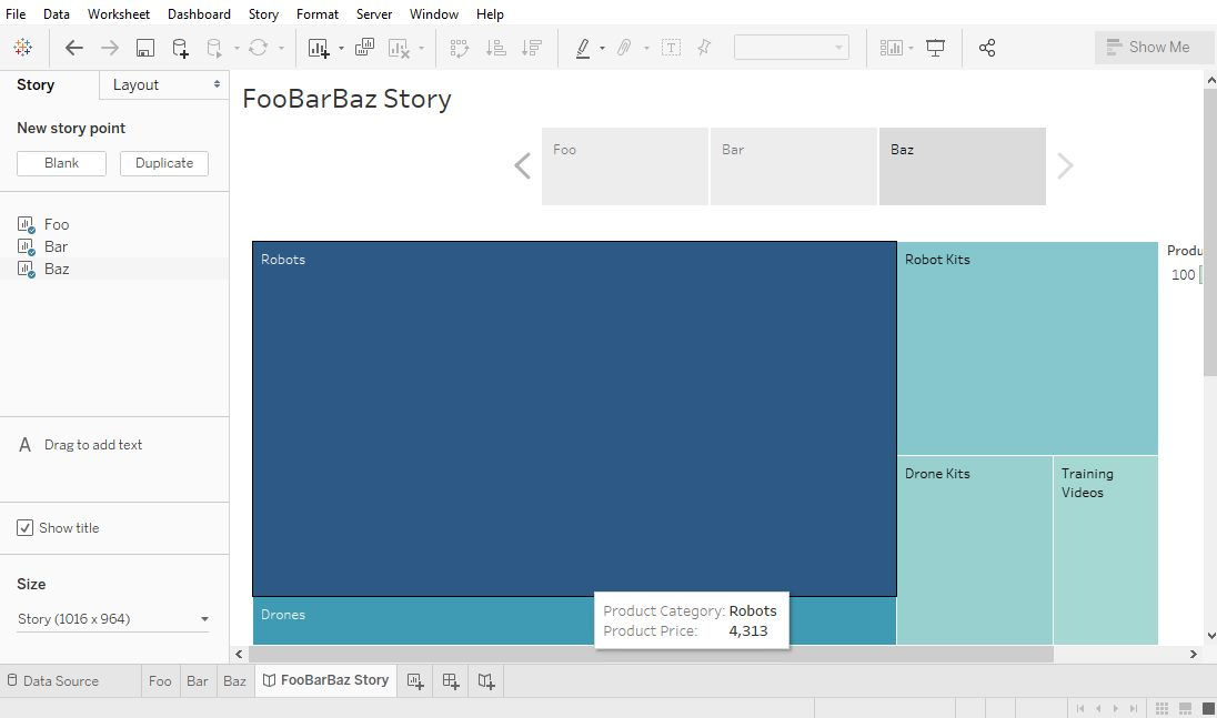 Tableau Create Story Step 5